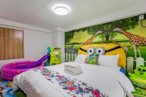 Family Kids Loft Homestay Near Subway Changlong, Apartmány  Kanton - big - 21