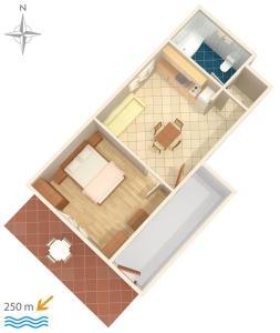 Apartment Tribunj 7117b, Appartamenti  Tribunj (Trebocconi) - big - 32