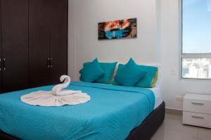 Stunning 2 Bedroom on the Beach in Bocagrande, Apartmanok  Cartagena de Indias - big - 4