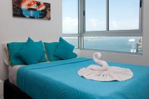 Stunning 2 Bedroom on the Beach in Bocagrande, Apartmanok  Cartagena de Indias - big - 10
