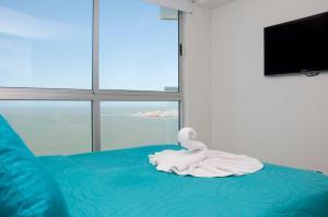 Stunning 2 Bedroom on the Beach in Bocagrande, Apartmanok  Cartagena de Indias - big - 12
