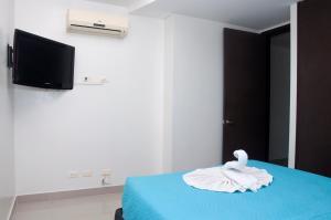 Stunning 2 Bedroom on the Beach in Bocagrande, Apartmanok  Cartagena de Indias - big - 15