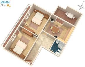 Apartment Sveti Juraj 2399b, Апартаменты  Свети-Юрай - big - 13