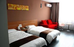 Auberges de jeunesse - Thank Inn Chain Hotel Jiangsu Lianyungang Donghai North Niushan Road