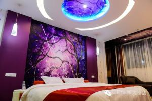 Mainland Chinese Citizens - Flavour Round Bed Room Thank Inn Chain Hotel Jiangsu Yangzhou Jiangdu District Daqiao Town