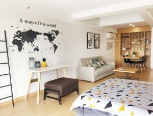 Queen Apartment Puwu Three Bedrooms Loft, Апартаменты  Сямынь - big - 5