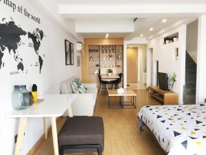 Queen Apartment Puwu Three Bedrooms Loft, Апартаменты  Сямынь - big - 9
