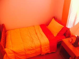 Red Orange Yellow Guest Room