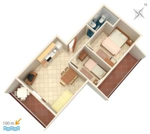 Apartment Vinisce 5229b, Апартаменты  Винисце - big - 19