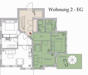 Neue Villa Ernst 02, Apartmány  Bansin - big - 8