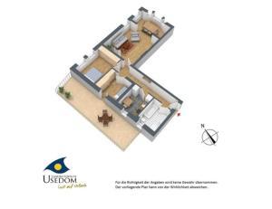 Villa Malve Wohnung 05, Ferienwohnungen  Bansin - big - 7