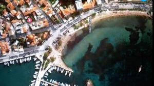 Traditional House at Aegina Port Aegina Greece