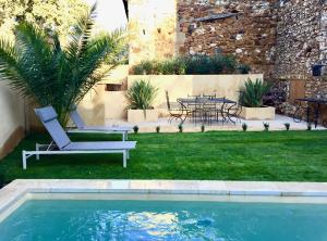 19C Provencal Stone House with Private Pool - Pougnadoresse