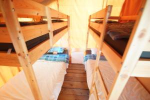 Safari tent at Camping Dun le Palestel