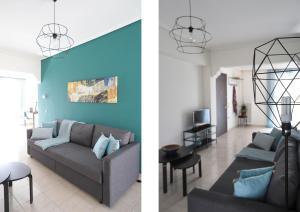 Joyful Turquoise Apt in Athens Historic Centre, Apartmány  Atény - big - 19