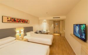 Hostels und Jugendherbergen - Hanting Hotel Liaocheng Guan County Chengxin Square