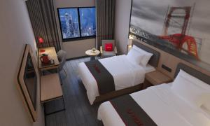 Hostels und Jugendherbergen - Thank Inn Chain Hotel Dongfeng Town Tianyi