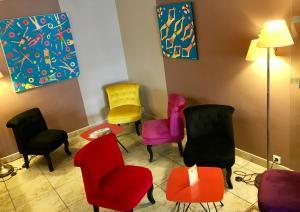 Amerique Hotel Palavas Montpellier Sud, Отели  Палава-ле-Фло - big - 46