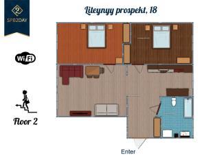 Apartment on Liteiny Prospekt 18, Ferienwohnungen  Sankt Petersburg - big - 44