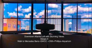 obrázek - Downtown Atlanta Loft Amazing Views Sleep 6 Walk to Mercedes Benz/Georgia World Congress