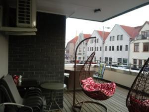 Apartament Angielski z klimatyzacja przy plaży i porcie