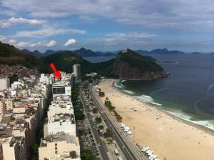 Au bord de la mer, grand véranda vue montagne, 2 chambres - Leme