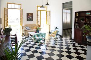 Colorfull house in La Zona Colonial Santo Domingo