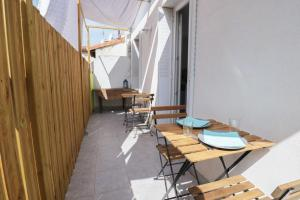 Studio Terrasse entre Gare et Vieux Port