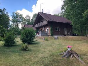 obrázek - Wooden house with sauna, fireplace near forest, lake, SPA