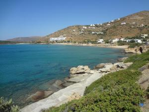 View of the endless blue Andros Greece