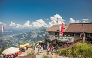 Hocheckhuette On Top of the Kitzbuehel Hahnenkamm Mountain