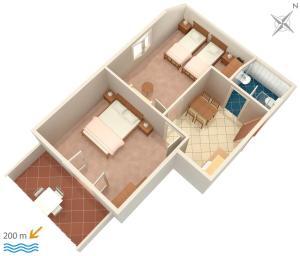 Apartment Vrsi - Mulo 5796a, Apartmány  Vrsi - big - 21