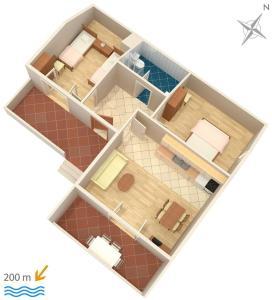 Apartment Vrsi - Mulo 5796d, Apartmány  Vrsi - big - 19