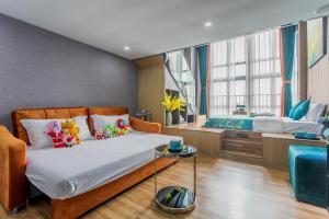 Lavendar Duplex Apartment, Apartments  Guangzhou - big - 56