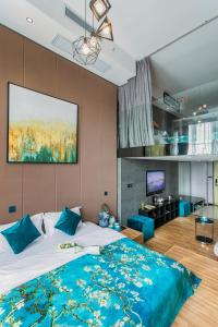 Lavendar Duplex Apartment, Apartments  Guangzhou - big - 63