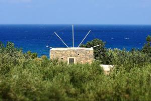 Authentic Cretan Stone Windmill - Agia Fotia