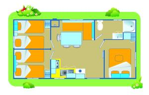 Happy Camp Mobile Homes in Camping Laguna Village, Kempingy  Caorle - big - 3