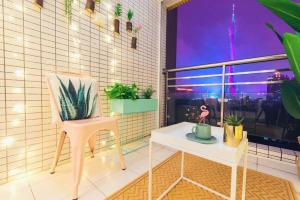 Guangzhou Haizhu·Pearl Shadow Star City· Locals Apartment 00138600, Apartmány  Kanton - big - 14