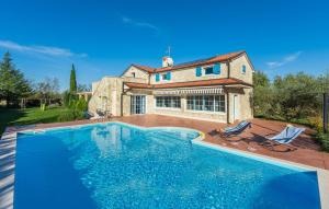 Newly built stone villa Mia with garden and pool