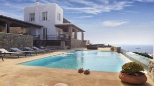Mykonos Villa Sleeps 16 Pool Air Con