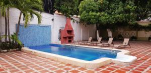 Beautiful 11 Bedroom Mansion near the Old City, Nyaralók  Cartagena de Indias - big - 51