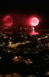 Año nuevo vista al mar Valparaíso