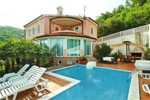 Holiday house in Opatija with sea view, terrace, air conditioning, Wi-Fi (4609-1)