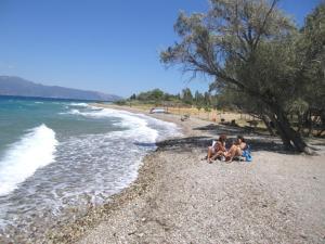3-Zimmer-Villa-Apartment am Strand mit Meerblick Achaia Greece