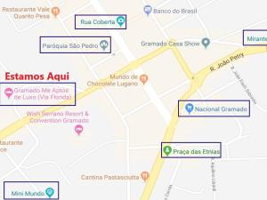 Aptos de Luxo Centro Gramado (Via Florida), Апартаменты  Грамаду - big - 40