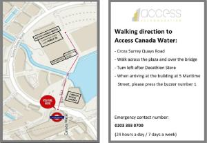 Access Canada Water