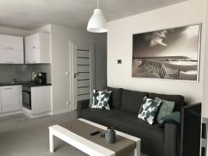 Apartament koloru morza Szmaragd