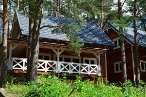 Domki Kaszuby jezioro las i zoo w Szarlocie