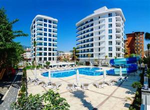 Апартаменты в районе пляжа Клеопатры, 7400 Alanya