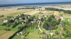 Domki w ogrodach Magra morze cisza wieś